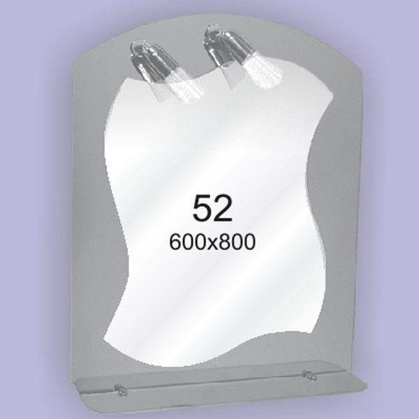 Зеркало для ванной комнаты F52 (600х800мм)
