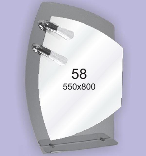 Зеркало для ванной комнаты F58 (550х800мм)