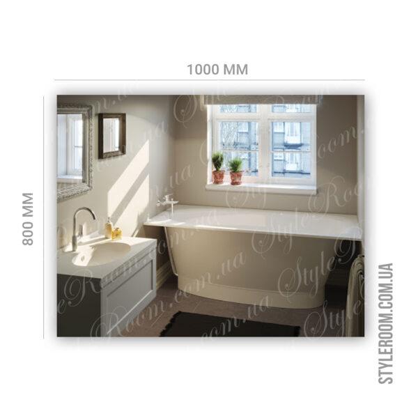 Зеркало с контурной Led подсветкой K-05 (1000x800мм)3