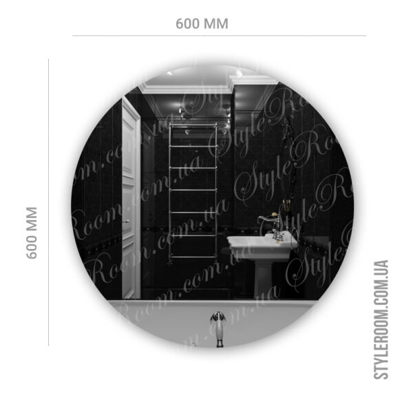 Зеркало с контурной Led подсветкой Kr-01 (600x600мм)3
