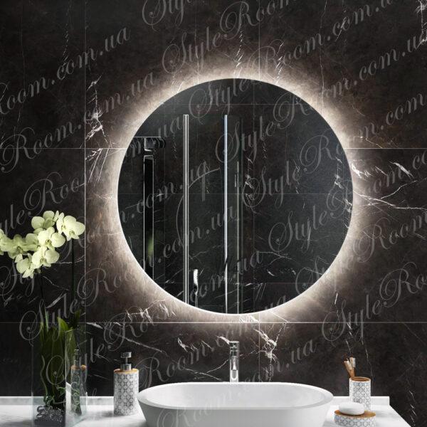 Зеркало с контурной Led подсветкой Kr-01 (600x600мм)1