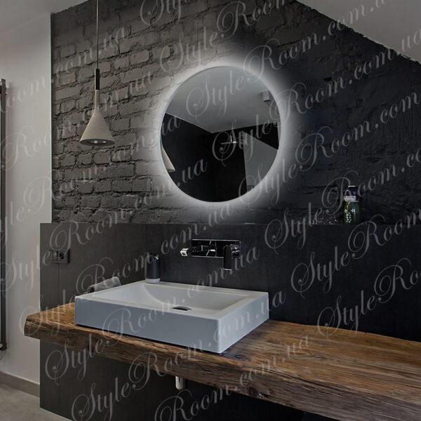 Зеркало с контурной Led подсветкой Kr-01 (600x600мм)2