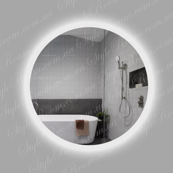 Зеркало с контурной Led подсветкой Kr-02 (700x700мм)