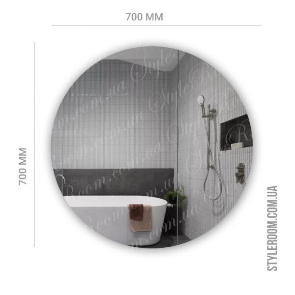 Зеркало с контурной Led подсветкой Kr-02 (700x700мм)3