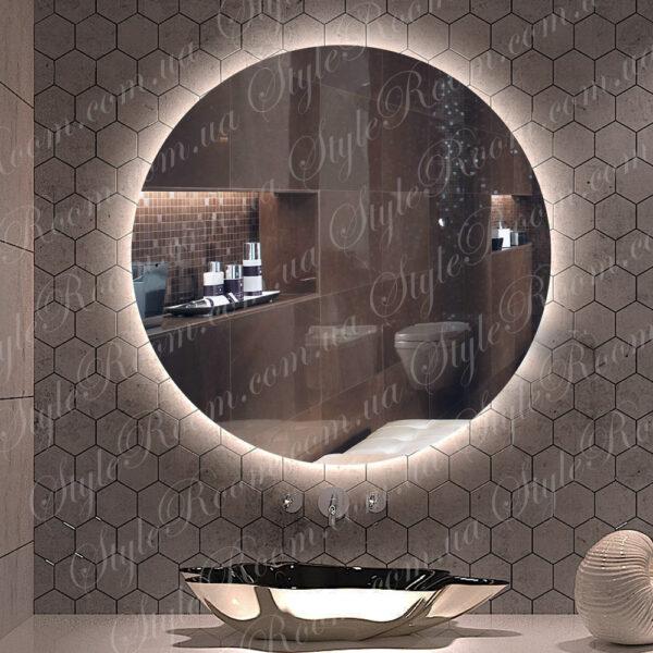 Зеркало с контурной Led подсветкой Kr-02 (700x700мм)1