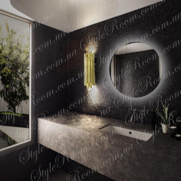 Зеркало с контурной Led подсветкой Kr-02 (700x700мм)2