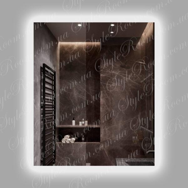 Зеркало с контурной Led подсветкой K-02 (700x800мм)