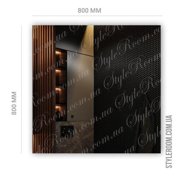 Зеркало с контурной Led подсветкой K-03 (800x800мм)3